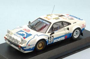 【送料無料】模型車 スポーツカー フェラーリ308137モンテカルロ1982 zamborlini 143モデルferrari 308 137 retired accident monte carlo 1982 zamborlini 143 model
