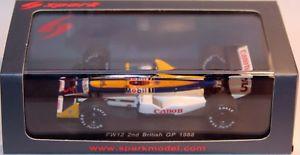 【送料無料】模型車 スポーツカー spark 143 williams fw12 5 british gp nigelmansell s4059spark 143 williams fw12 5 british gp nigel mansell s4059