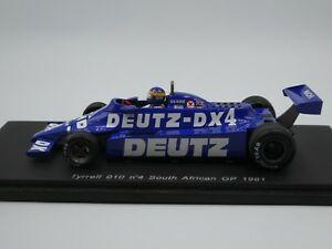 【送料無料】模型車 スポーツカー スパークウィルソンティレル#アフリカグランプリspark 143 desire wilson tyrrell 010 4 south african gp f1 1981 resin s1886