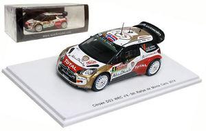 【送料無料】模型車 スポーツカー スパークシトロエン#モンテカルロラリースケールspark s3789 citroen ds3 wrc 4 5th monte carlo rally 2014 m ostberg 143 scale