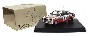 【送料無料】模型車 スポーツカー フォードエスコートポルトガルラリーシルヴァスケールtrofeu 1020 ford escort mk ii portugal rally 1981 m silva 143 scale