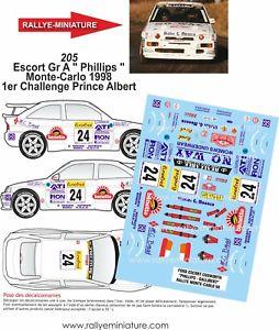 【送料無料】模型車 スポーツカー decals 124ref 205 ford escort phillips rally mountedcarlo 1998rally wrcdecals 124 ref 205 ford escort phillips rally mount
