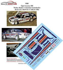 【送料無料】模型車 スポーツカー 124decals ref1580opel ascona 400walter rohrl rally mounted carlo1982rallydecals 124 ref 1580 opel ascona 400 walter rohrl