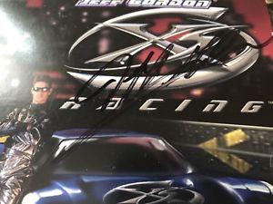 【送料無料】模型車 スポーツカー ジェフゴードンサインゲームクリスタルレースカーjeff gordon signed autographed c d rom game and 124 crystal race car