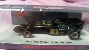 【送料無料】模型車 スポーツカー スパークs4282143ロータスフォード72dエマソンフィッティパルディスペインgp 1972chaspark s4282143 lotus ford 72d emerson fittipaldi winner spain gp 1972 wo