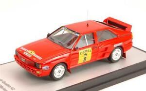 【送料無料】模型車 スポーツカー アウディクワトロラリーデティエラaudi quattro a2 n8 rally de tierra 1988 aldecoainunciaga 143 trofeu tfgrb 01 m