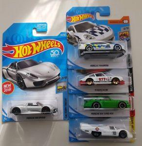 【送料無料】模型車 スポーツカー ホットホイールポルシェロットhot wheels porsche lot of 5