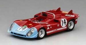 【送料無料】模型車 スポーツカー アルファロメオ#デルタタルガフローリオスケールメートルalfa romeo tipo 333 14 auto delta targa florio 1970 true scale 143 tsm154365 m