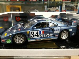【送料無料】模型車 スポーツカー フェラーリbburago 118 ferrari f40 blaumet rar