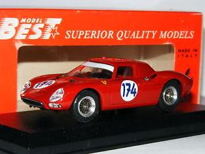 【送料無料】模型車 スポーツカー フェラーリタルガフロリオ#best 9119 ferrari 250 lm 1966 targa florio 174 143