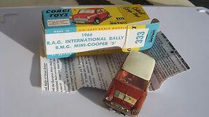 【送料無料】模型車 スポーツカー コーギーサンリプロボックスラリーミニクーパーcorgi 333 original sun rally mini cooper untouched playworn in repro box
