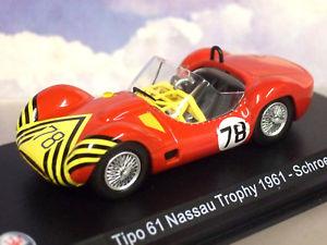 【送料無料】模型車 スポーツカー ダイカストマセラティマセラティ#ナッソートロフィーボブシュレーダー143 diecast maserati tipo 61 birdcage 78 nassau trophy 1961 bob schroeder