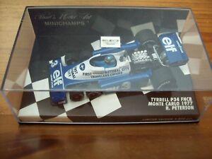 【送料無料】模型車 スポーツカー ティレルロニーピーターソンモンテカルロウィーラー143 tyrrell p34 fncb ronnie peterson 1977 monte carlo six wheeler