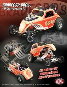 【送料無料】模型車 スポーツカー bradford brothers 427altered fiat acme 118 scale diecastmetal model carbradford brothers 427 altered fiat acme 118 scale d