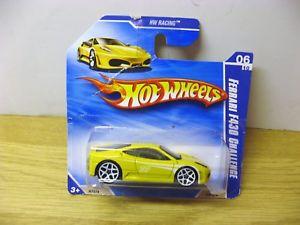 【送料無料】模型車 スポーツカー ショートカード14ホットホイールズ2010フェラーリf4300610ミントhot wheels 2010 ferrari f430 challenge 0610 mint on short card yellow 14