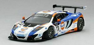 【送料無料】模型車 スポーツカー マクラーレングアテマラユナイテッドオートマカオグランプリスケールmclaren 12c gt3 gulf united autosport macau gp 2013 true scale 143 tsm154319 mo
