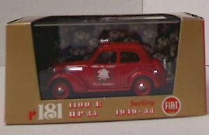 【送料無料】模型車 スポーツカー フィアットモデルカーレッドボディサイレン listingbrumm r181b fiat 1100e belina fire service model car red body, roof siren 143rd