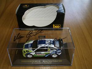 【送料無料】模型車 スポーツカー ネットワークフォードフォーカス#フィンランドラリーサインixo 143 ford focus rs wrc 3 winner rally finland 2006 with original autograph