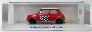 【送料無料】模型車 スポーツカー スパークモデルスケールモーリスクーパーモンテカルロラリーspark models 143 scale s1187 morris cooper 288 3rd monte carlo rally 1963