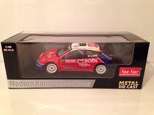 【送料無料】模型車 スポーツカー サンスターシトロエンクサラローブモンテカルロラリーsunstar 4414 citroen xsara wrc sloeb winner monte carlo rally 2005