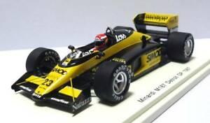 【送料無料】模型車 スポーツカー マルボロスパークミナルディアメリカグランプリmarlboro specification spark 1 43 minardi m 187 1987 f american grand prix 23