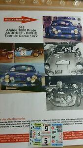 【送料無料】模型車 スポーツカー デカールコルシカラリーラリーアルパインルノーツアーdecals 118 ref 545 alpine renault a110 andruet tour of corse 1972 rally rally
