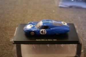【送料無料】模型車 スポーツカー スパークアルプスm64レ1964143s5681spark alpine m64 le mans 1964 143 resin s5681