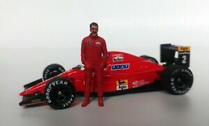【送料無料】模型車 スポーツカー mfh143ナイジェルマンセル1989 1990フェラーリ143 nigel mansell 1989 1990 ferrari figurine figure standing mfh
