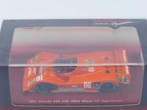 【送料無料】模型車 スポーツカー 966jagermeisterポルシェimsa1991マイアミgptrue scale miniature jagermeister porsche 966 imsa 1991 miami gp