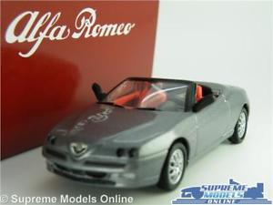 【送料無料】模型車 スポーツカー アルファロメオスパイダーモデルサイズディーラーグレーalfa romeo spider car model 143 size solido tin dealer special grey 20374 t4