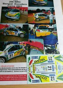 【送料無料】模型車 スポーツカー 118decals ref626peugeot 206wrc mbengue rally tour of corse2003rallydecals 118 ref 626 peugeot 206 wrc mbengue rally tour o
