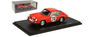 【送料無料】模型車 スポーツカー スパークポルシェ#モンテカルロスケールspark s4021 porsche 911t 210 winner monte carlo 1968 vic elford 143 scale
