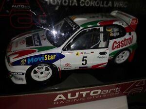 【送料無料】模型車 スポーツカー ブランドトヨタカローラカルロスサインツ#brand 118 autoart toyota corolla wrc carlos sainz 5