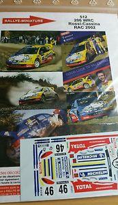 【送料無料】模型車 スポーツカー デカールプジョーロッシラリーラリーdecals 118 ref 512 peugeot 206 wrc valentino rossi rac rally 2002 rally vr46