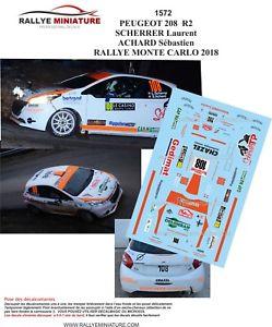 【送料無料】模型車 スポーツカー デカールプジョーマウントラリーモンテカルロラリーdecals 118 ref 1572 peugeot 208 r2 scherrer rally mounted carlo 2018 rally wrc