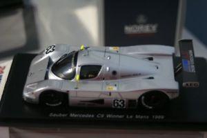 【送料無料】模型車 スポーツカー ザウバーメルセデスルマンマスspark sauber mercedes c9 winner lemans 1989 jmass 143 resin 43lm89