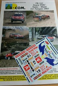 【送料無料】模型車 スポーツカー 118decals ref543citroen xsara wrc sainz rally turkey2003rally turkishdecals 118 ref 543 citroen xsara wrc sainz rally turk