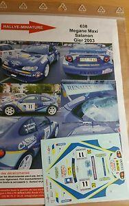【送料無料】模型車 スポーツカー 118decals ref638renault megane maxi david salanon rally gier2003rallydecals 118 ref 638 renault megane maxi david salanon