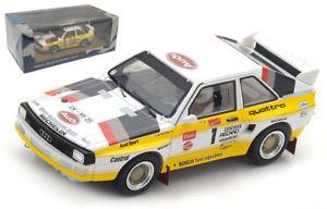 【送料無料】模型車 スポーツカー スパークアウディクワトロパイクスピークムートンスケールspark 43pp85 audi quattro s1 winner pikes peak 1985 michle mouton 143 scale