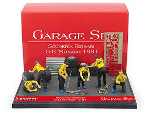 【送料無料】模型車 スポーツカー ガレージセットフェラーリモナコスケールbrumm gs01 garage set ferrari monaco gp 1981 143 scale