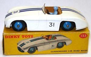 【送料無料】模型車 スポーツカー レースカーミントdinky 133 cunningham race car rare mint boxed