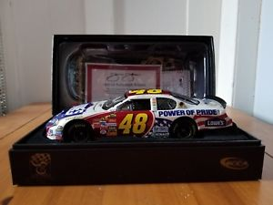 【送料無料】模型車 スポーツカー ジミージョンソン#プライドエリートサイン2007 jimmie johnson 48 lowes power of pride rcca elite autographed 124 coa