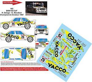 【送料無料】模型車 スポーツカー デカールラリーマウントホワイトラリーdecals 118 ref 165 bmw m3 e30 delage rally mount white 1997 rally