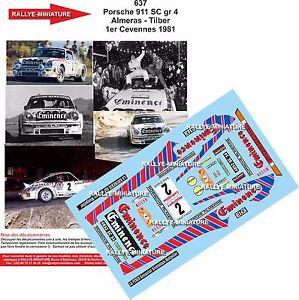 【送料無料】模型車 スポーツカー 118decals ref0637porsche 911almeras criterium of cevennes 1981rallydecals 118 ref 0637 porsche 911 almeras criterium of ce