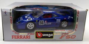 【送料無料】模型車 スポーツカー ブラーゴ118ダイカスト3352フェラーリf40 198756レースモデルカーburago 118 scale diecast 3352 ferrari f40 1987 blue 56 race model car