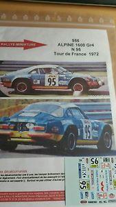 【送料無料】模型車 スポーツカー デカールアルパインルノーツアードフランスラリーラリーdecals 112 ref 956 alpine renault a110 marquet tour de france 1972 rally rally
