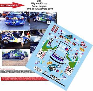 【送料無料】模型車 スポーツカー デカールルノーメガーヌマキラリーラリーdecals 118 ref 287 renault megane maxi frau rally earth auxerrois 2000 rally