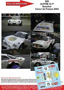 【送料無料】模型車 スポーツカー デカールアルパインルノーブーシェラリーフランスdecals 118 ref 860 alpine renault a110 boucher rally coeur de france 2004