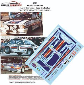 【送料無料】模型車 スポーツカー デカールオペルアスコナマウントラリーカルロdecals 118 ref 1583 opel ascona 400 henri toivonen rally mounted carlo 1983