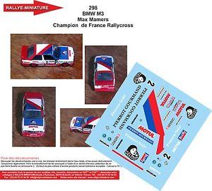 【送料無料】模型車 スポーツカー デカールdecals 118 ref 298 bmw m3 e30 max mamers rallycross 1987